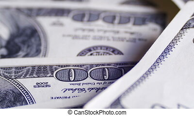 Dollars, American Banknotes Rotate