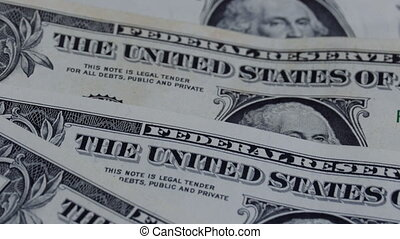 Dollars, American Banknotes value of 1 dollar is Rotate