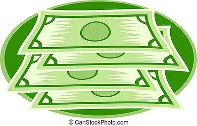 Dollars - American dollars design