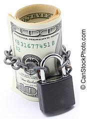 Money Saving Insurance Concept - Dollars Banknote bills Cash...