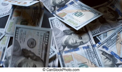 dollars banknotes - banknotes of hundred dollars