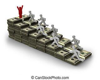 dollars banknotes man