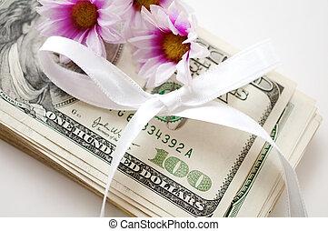 dollars, blomningen, bog