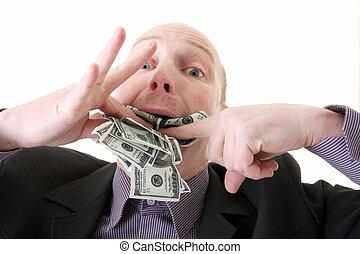 dollars, consommer, avarice, avidité