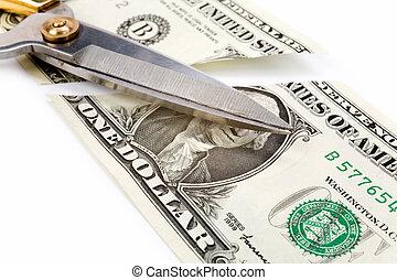 dollars, découpage