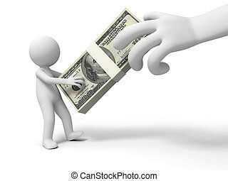 Dollars - Dollar,a big hand robbing a person%u2019s dollars