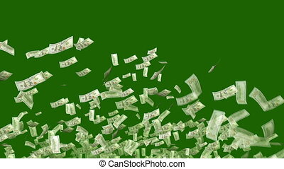 """Dollars Exploding like a Festive Salute"" - ""A celebratory..."