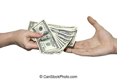 dollars from one hand to