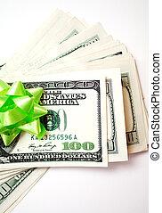 dollars, gåva