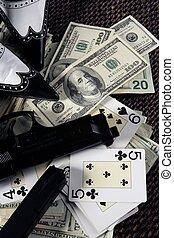 dollars, gangster, spel, clasic, maffia, nog, boordgeschut