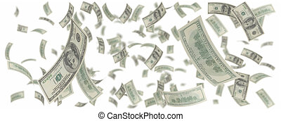 dollars, hundra, regna, en