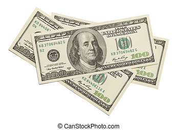 dollars, hundra, tre