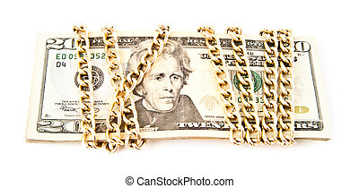dollars in a chain