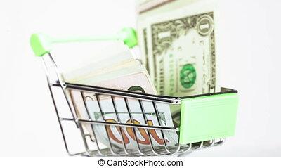 Dollars in cart