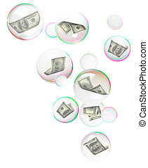 Dollars into bubbles