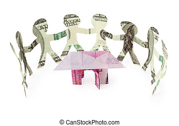 dollars little people cutouts dance in half ring around...