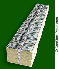 dollars, million, une