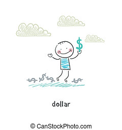 dollars., mon, illustration.