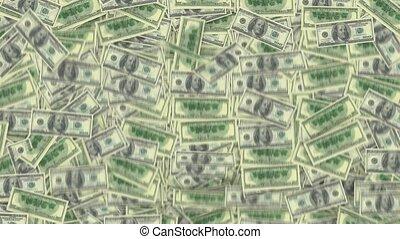 dollars, nous, remplissage, écran