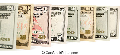 Dollars. On a white background.