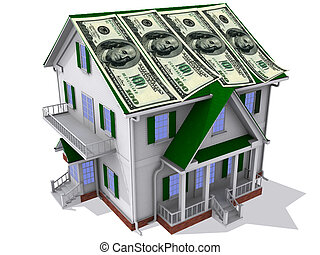 Dollars on house