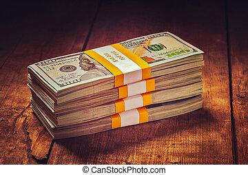 dollars, oss, sedlar, upplaga, 100, buntar, 2013