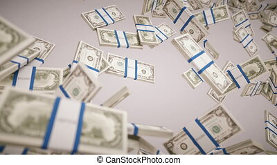 dollars, remplissage, nous, cadre