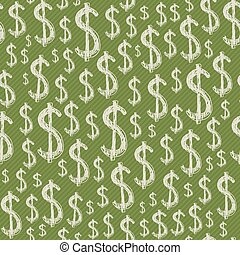 Dollars signs seamless pattern