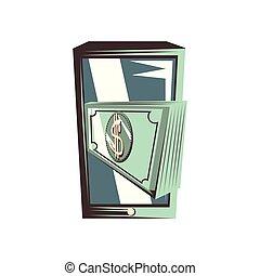 dollars, smartphone, factures