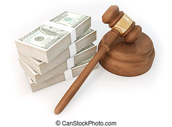 Dollars stack with Auction