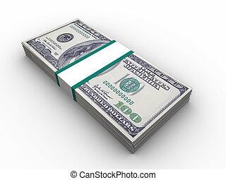 dollars, stapel