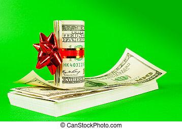 dollars, uppe, oss, rulle, bundet, lagförslaget, stack, band