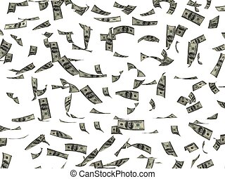 dollars, verspreid