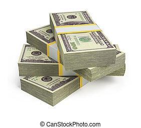 dollars, wads