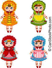 dolls collection - collection of cute dolls in vintage...
