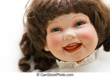 Doll\\\'s face - Portrait of a smiling doll
