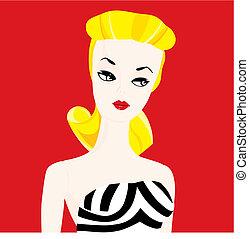 Dolls girl vector illustration - Dolls girl illustration pin...
