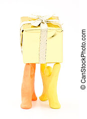 Dolls lift the box