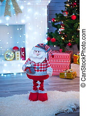 Dolls of Santa Claus and Christmas decorations