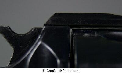 DOLLY: Handgun Details - Handgun Details Dolly Shot Macro