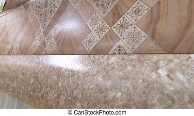 Dolly: Linoleum flooring background