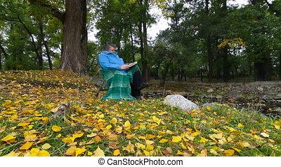 dolly:, livre, femme aînée, lecture