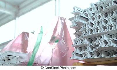 Dolly of PVC profiles, plastic windows manufacture. - Dolly...