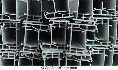 Dolly of PVC profiles, plastic windows manufacture