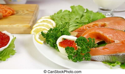 DOLLY: Salmon And Caviar