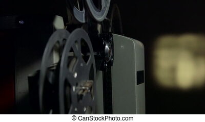 Dolly: Screening movies on vintage film projector