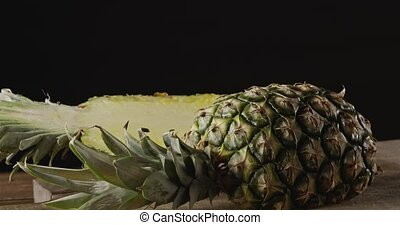 Dolly slow motion close up video fresh juicy exotic fruit...