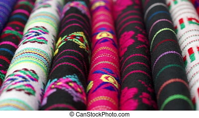Dolly Traditional Mexican Fabric - Dolly shot with short...
