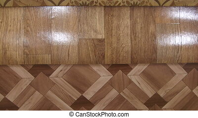 Dolly: Variety of linoleum in showroom of flooring store