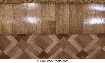 Dolly: Variety of linoleum in showroom of flooring store